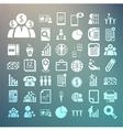 Business icons and Finance icons Set on Retina bac vector image