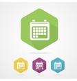 calendar organizer flat icon vector image