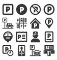 car parking icons set on white background vector image vector image