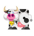 cartoon cowcartoon flat for your vector image