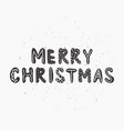 christmas and new year phrase vector image vector image