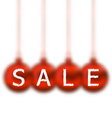 Christmas balls with lettering sale vector image