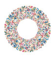 circle frame wreath design made doodle vector image vector image