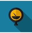 color flat manometer icon vector image vector image