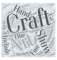 craft shows Word Cloud Concept vector image vector image