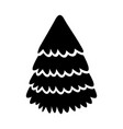 cute black icon christmas tree vector image vector image