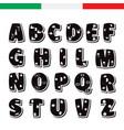 cute funny childish italian alphabet font vector image vector image