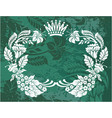 decorative frame with crown vector image vector image