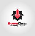down gear - auto service logo template vector image