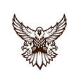 eagle sport mascot logo design black and vector image