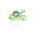 earth day typographical design elements with vector image vector image