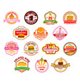 fast food restaurant cafe icons vector image vector image