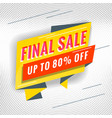 final sale promotional concept template vector image vector image