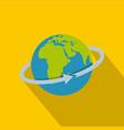flight around world icon flat style vector image