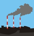 flue gas stack vector image