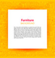 furniture paper template vector image