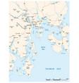 greater hobart road map tasmania australia vector image vector image
