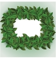 green big leaves frame vector image vector image