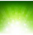 green sunburst eco background vector image vector image