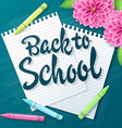 hand drawn back to school lettering greetings vector image