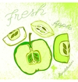 Handdrawn apple vector image