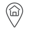 home location line icon real estate and home vector image vector image