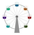 isolated ferris wheel vector image vector image