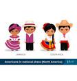 jamaica costa rica men and women in national vector image vector image