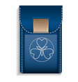 leather mobile pocket icon realistic style vector image