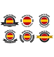 Made in Spain badge set vector image vector image