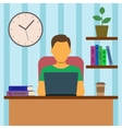 Man Working At Home vector image vector image