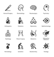 Medical and Health Care Icons Set 2 - Specialties vector image vector image