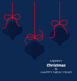 merry christmas and new year dark blue background vector image vector image