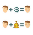 money makes you smile vector image