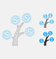 money tree mesh network model and triangle vector image vector image