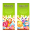 Monsters vertical banners vector image vector image