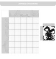 mouse black and white japanese crossword with vector image vector image