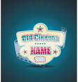 Old Cinema banner with stripe roll cinema vector image vector image