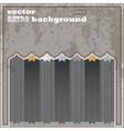 Old retro vintage vector image vector image