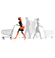 People withs shopping charts vector | Price: 1 Credit (USD $1)