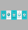 recognition onboarding elements icons set vector image vector image