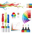 rgb color mode design elements vector image
