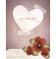 Romantic vintage with a paper heart vector image vector image