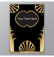 saeshell art deco art nuvo template cover and vector image