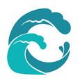 sea or ocean wave in circle water splashes vector image