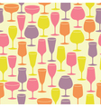 Seamless background with wine glasses vector image vector image