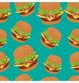 Seamless pattern with burger image Cheeseburger vector image vector image