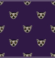 seamless pattern with faces of lemur vector image vector image