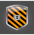 Security shield with keyhole vector image vector image