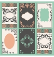 Set cards arabesque ornament frameworks vector image vector image